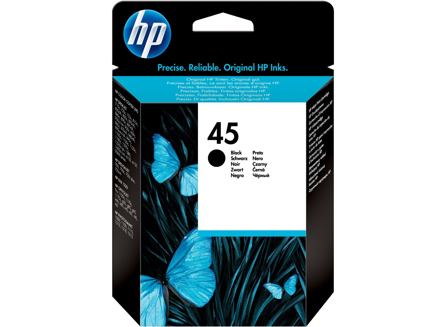 HP 45 Black Inkjet Toner Cartridge 51645A
