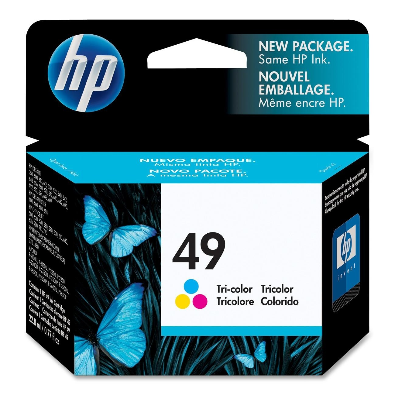 HP 49 Tri Color Ink Cartridge 51649A