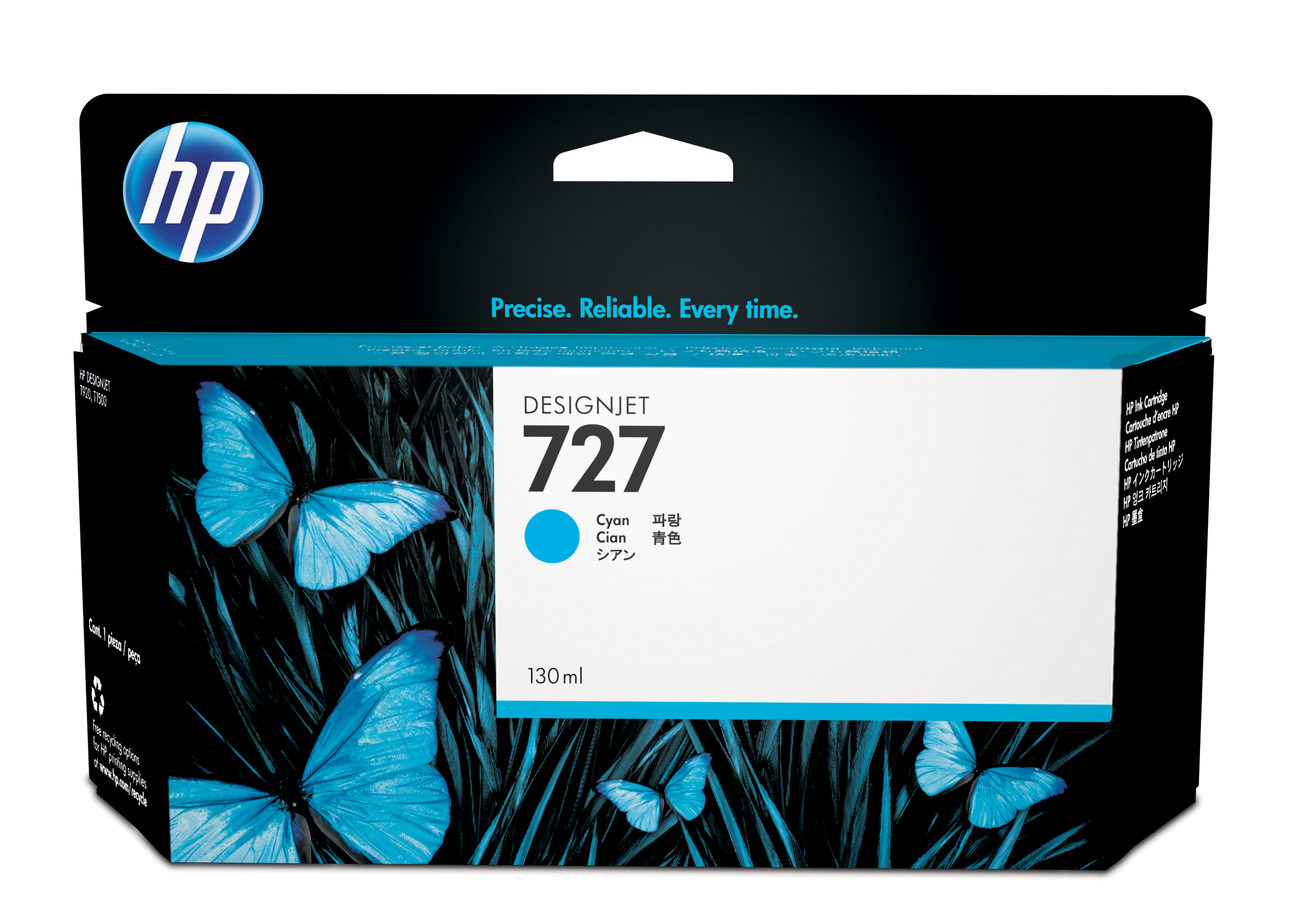 HP 727 Cyan Ink Cartridge B3P19A