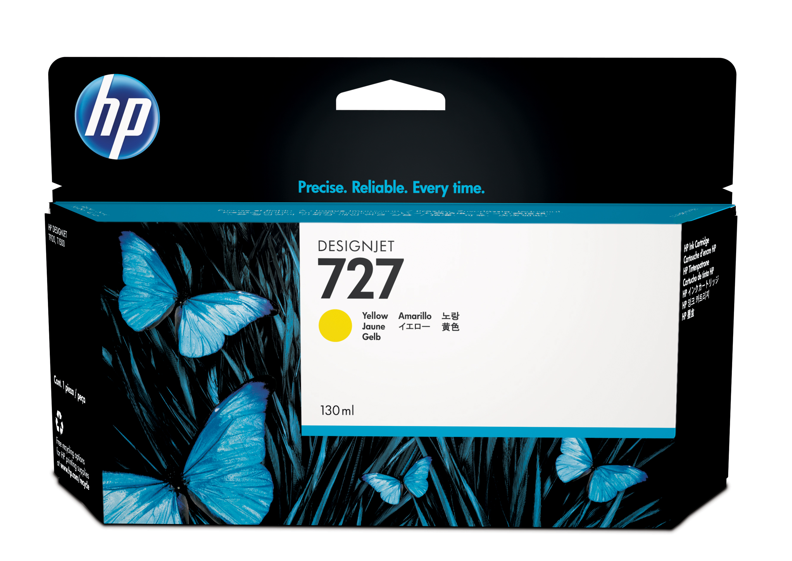 HP 727 Yellow Ink Cartridge B3P21A