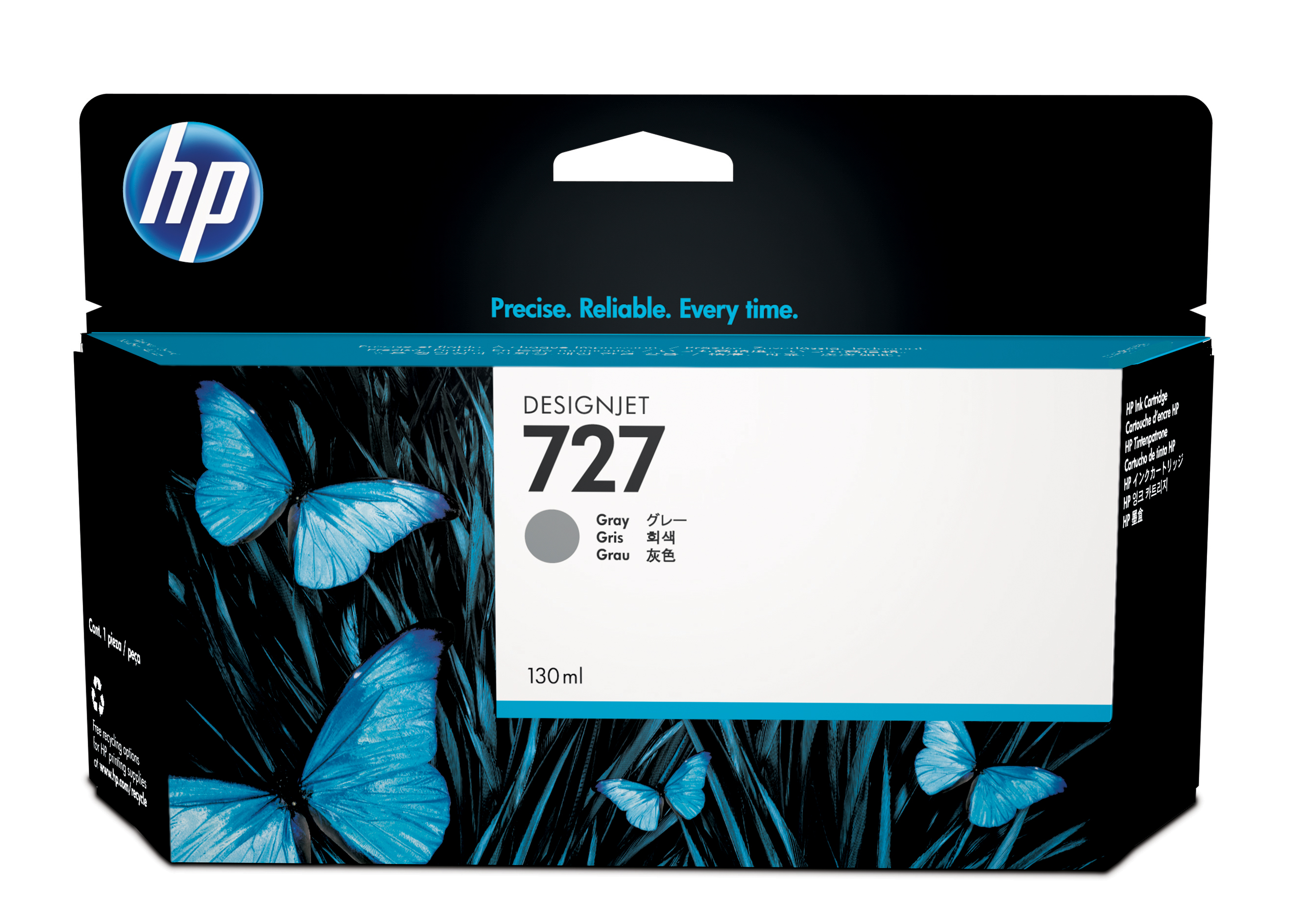 HP 727 Gray Ink Cartridge B3P24A