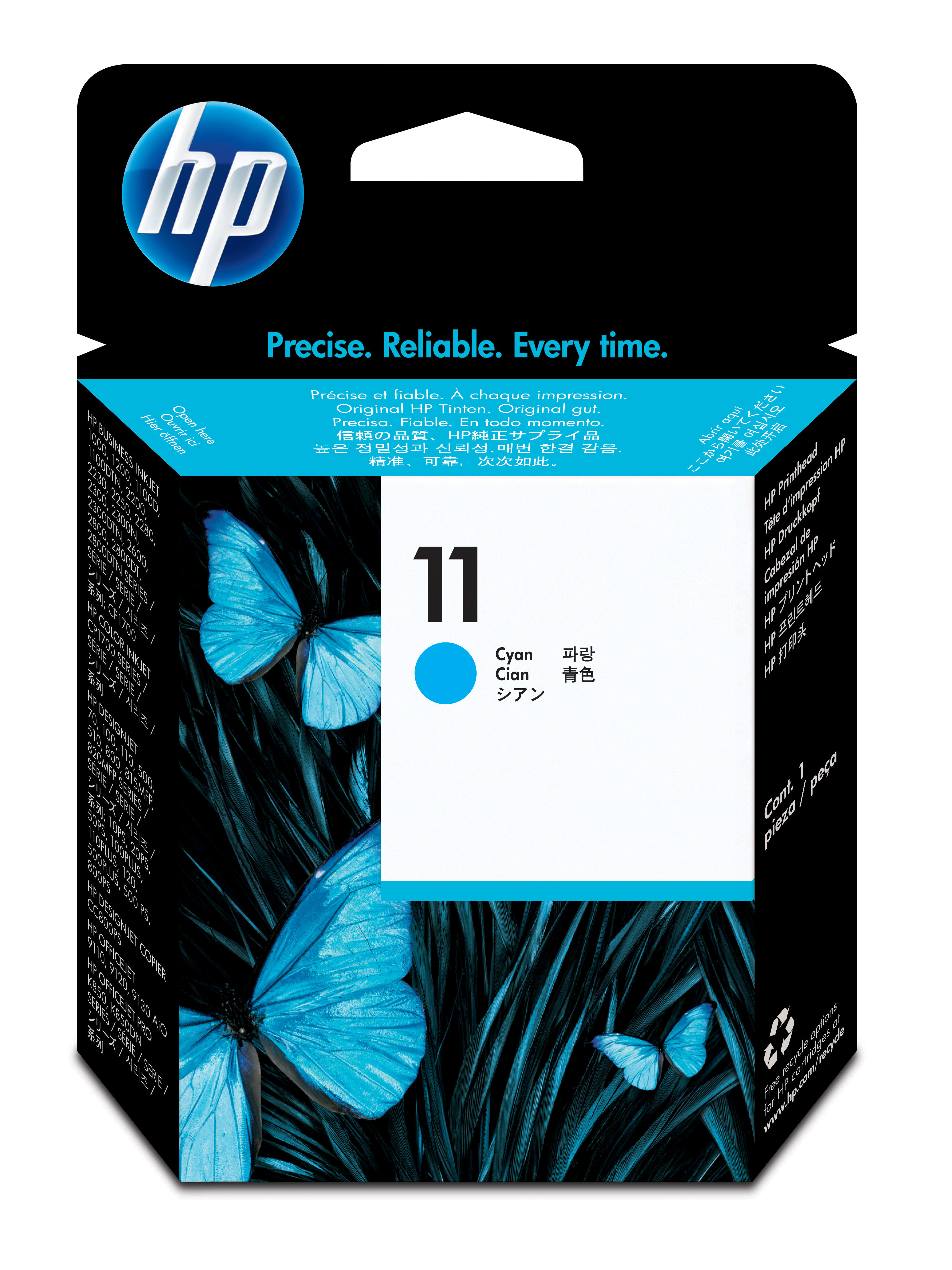 HP 11 Cyan Ink Printhead, C4811A