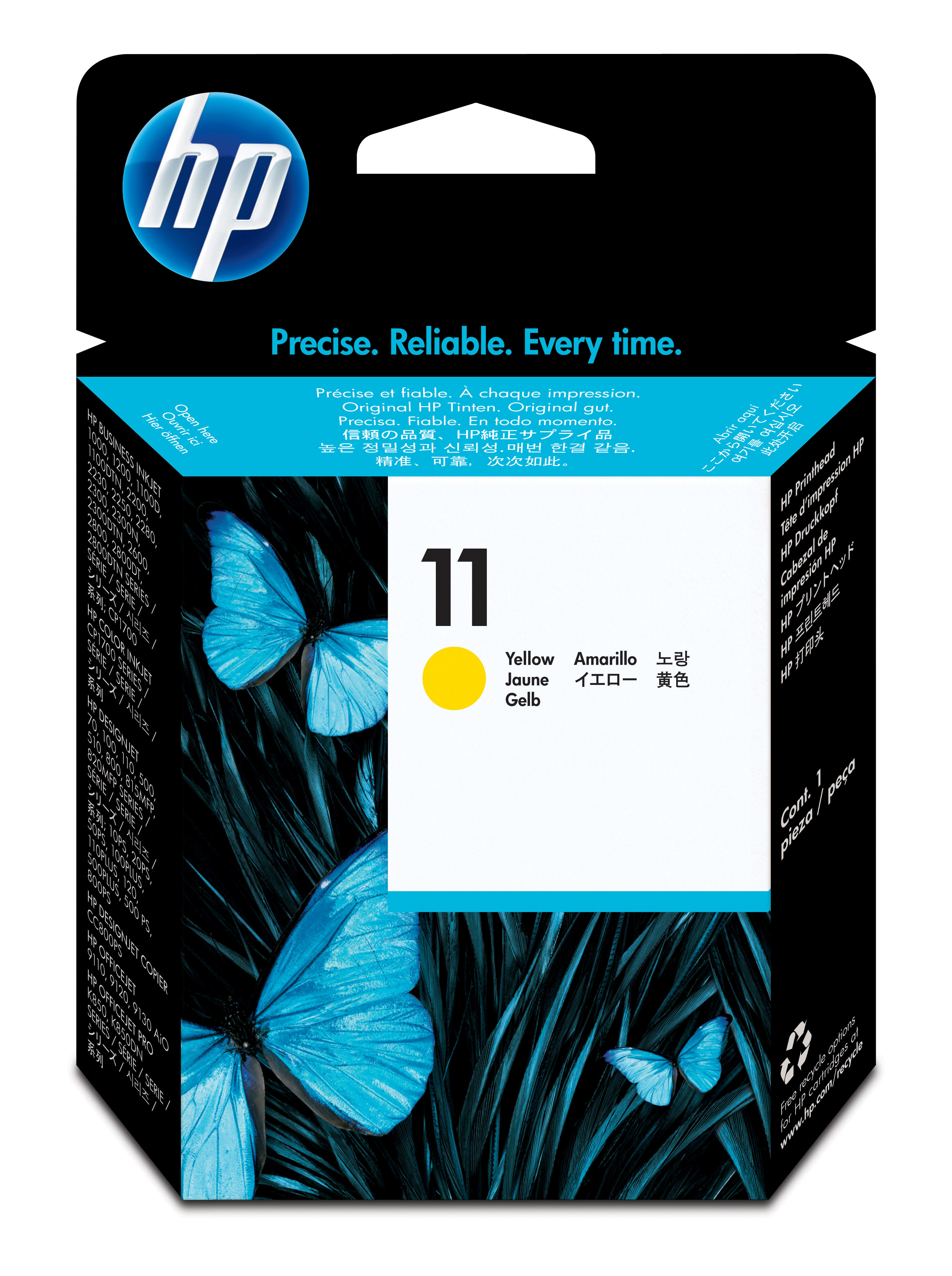 HP 11 Yellow  Ink Printhead, C4813A