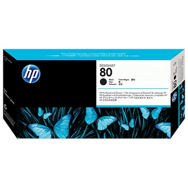 HP 80 Black Printhead and Cleaner C4820A