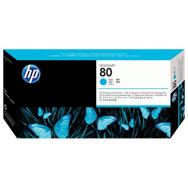 HP 80 Cyan Printhead & Cleaner C4821A