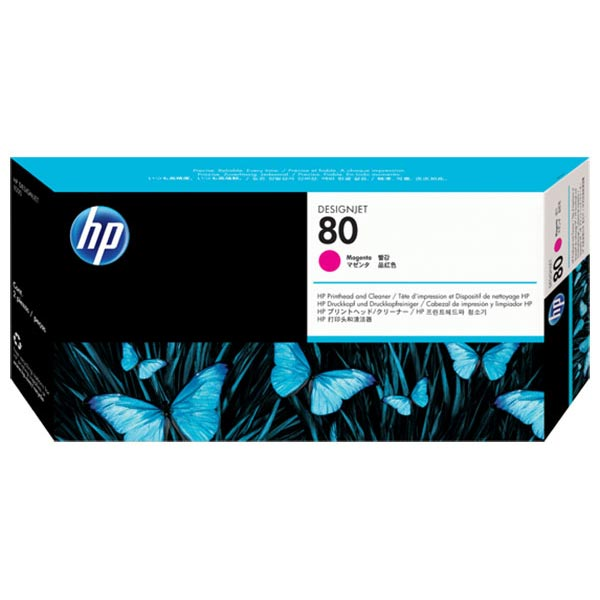 HP 80 Magenta, Printhead, & Cleaner C4822A