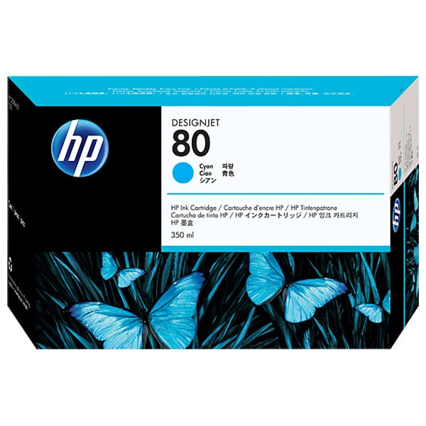 HP 80 Cyan High Yield Ink Cartridge C4846A