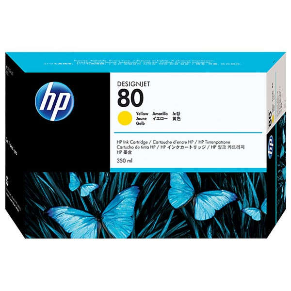 HP 80 Yellow High Yield Ink Cartridge C4848A