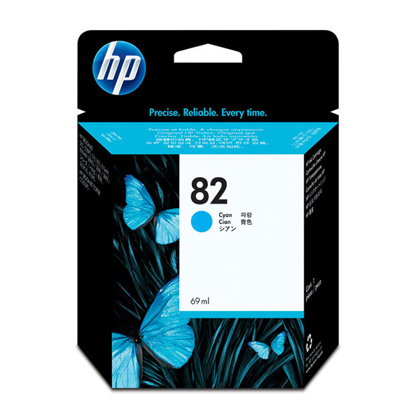 HP 82 Cyan Ink Cartridge C4911A