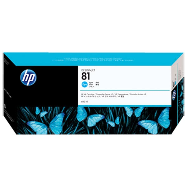 HP 81 Cyan Dye Ink Cartridge C4931A