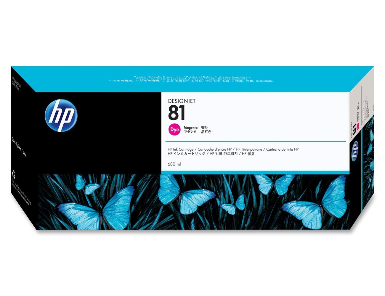 HP 81 Magenta Dye Ink Cartridge C4932A