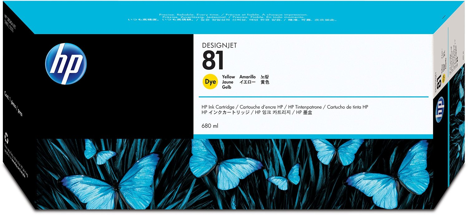 HP 81 Yellow Dye Ink Cartridge C4933A