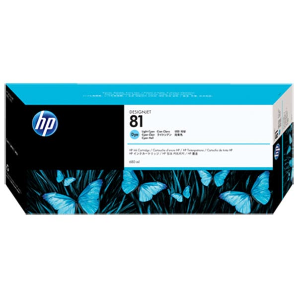 HP 81 Light Cyan Dye Ink Cartridge C4934A