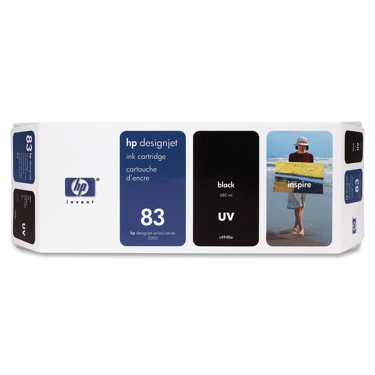 HP 83 Black UV Ink Cartridge C4940A