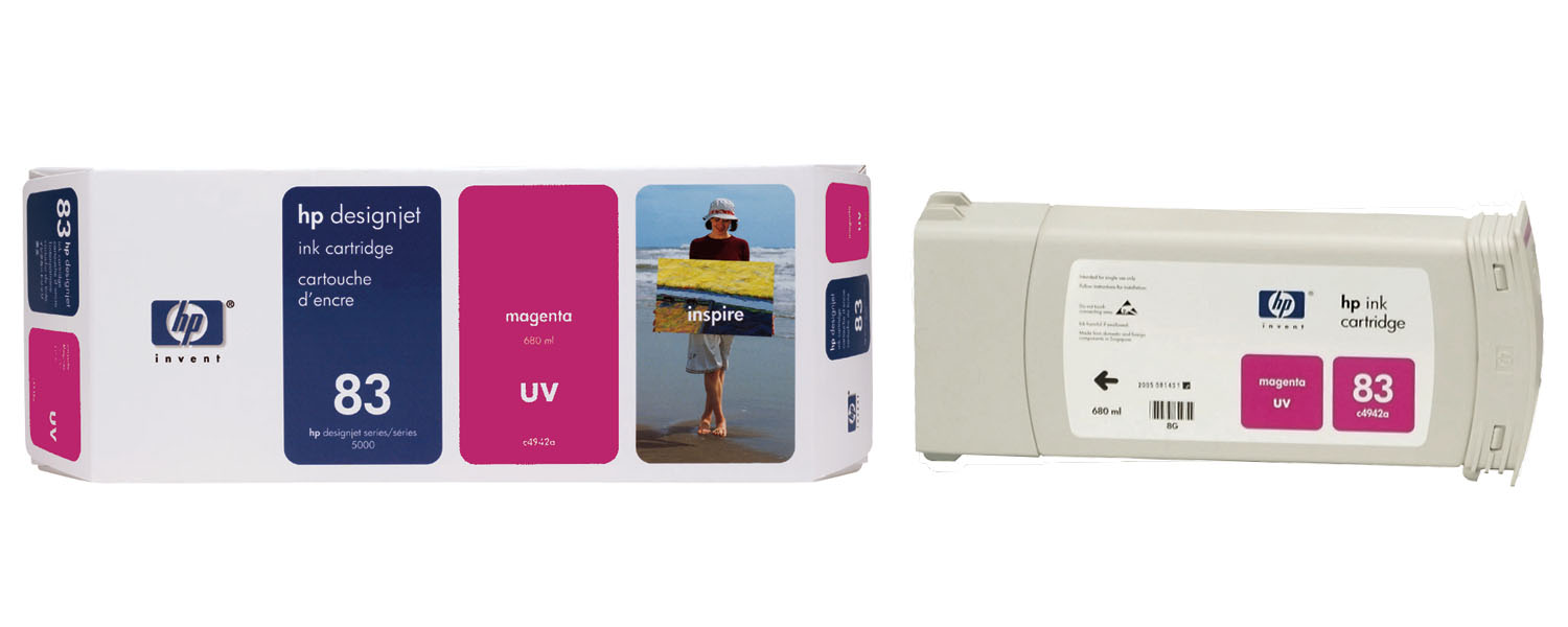 HP 83 Magenta UV Ink Cartridge C4942A