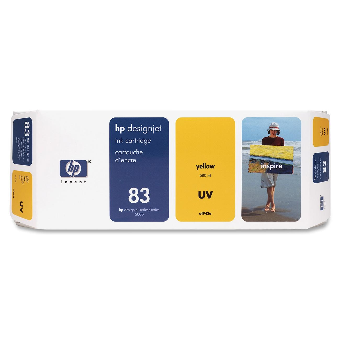 HP 83 Yellow UV Ink Cartridge C4943A