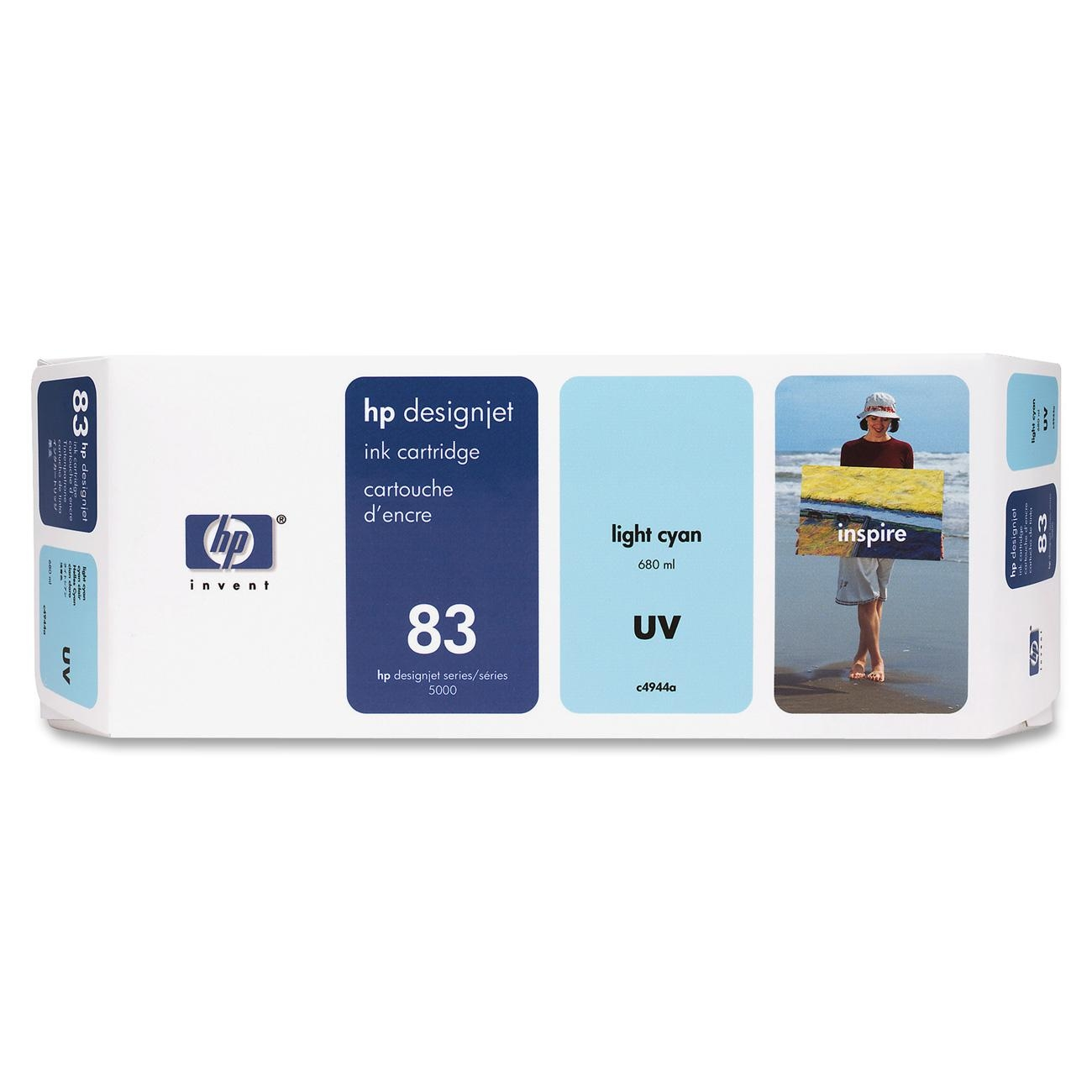 HP 83 Light Cyan UV Ink Cartridge C4944A