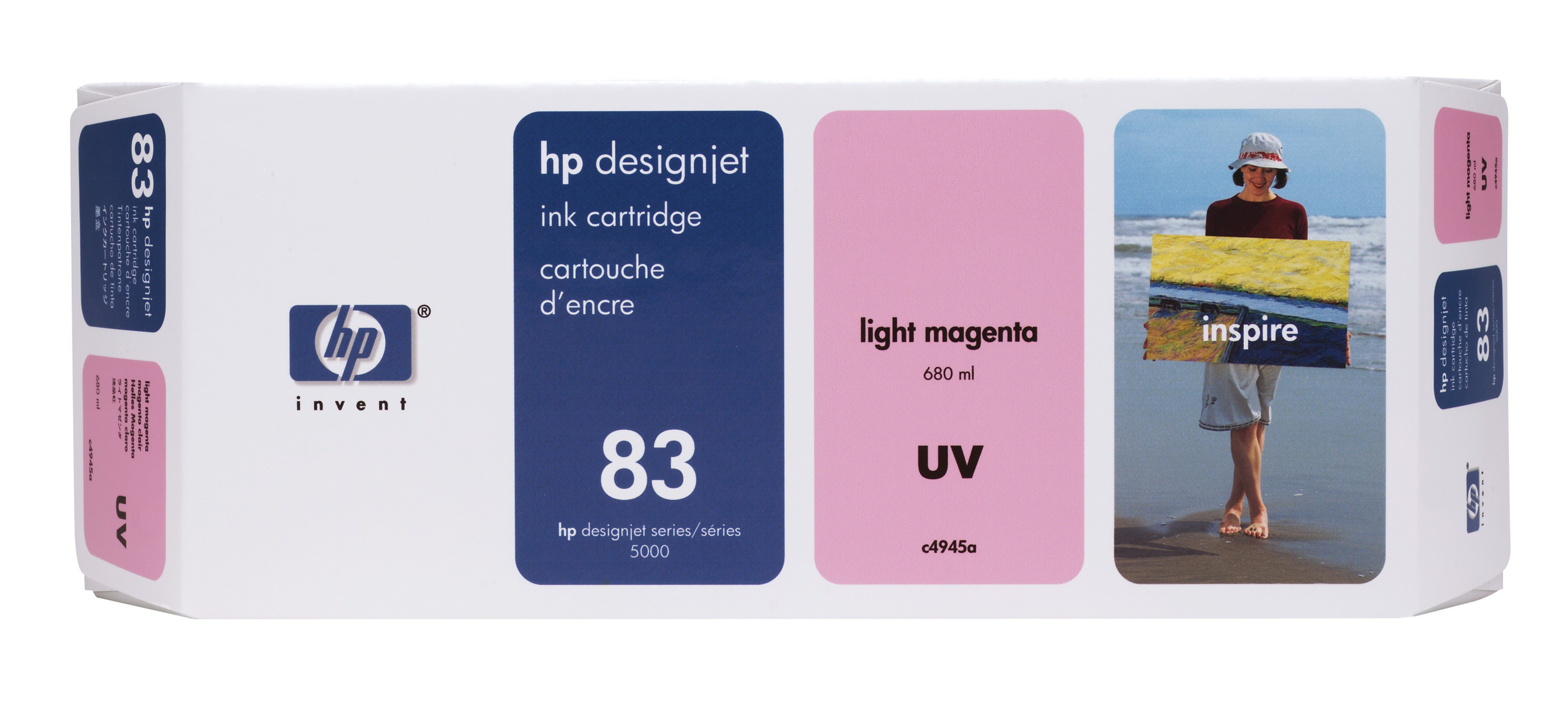 HP 83 Light Magenta UV Ink Cartridge C4945A