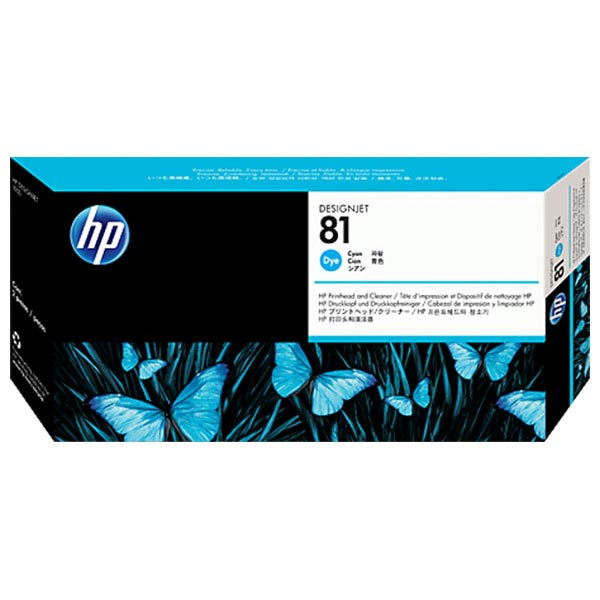 HP 81 Cyan Dye-Based Printhead & Cleaner C4951A