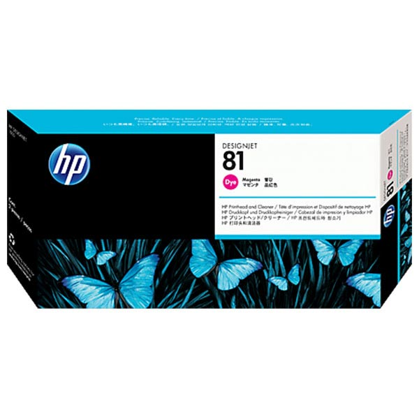 HP 81 Magenta Dye-Based Printhead and Cleaner C4952A