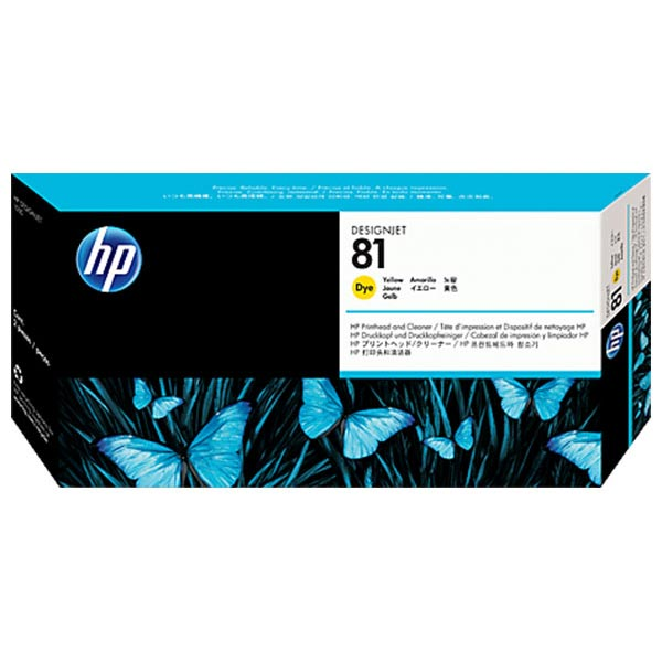 HP 81 Yellow Dye-Based Printhead with Cleaner(C4953A)