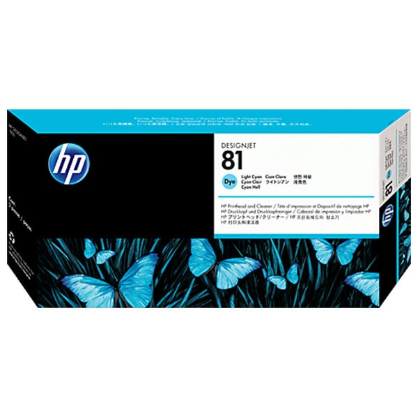 HP 81 Light Cyan Dye-Based Printhead with Cleaner C4954A