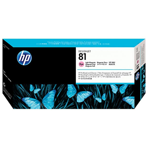 HP 81 Light Magenta Dye-Based Printhead with Cleaner  C4955A
