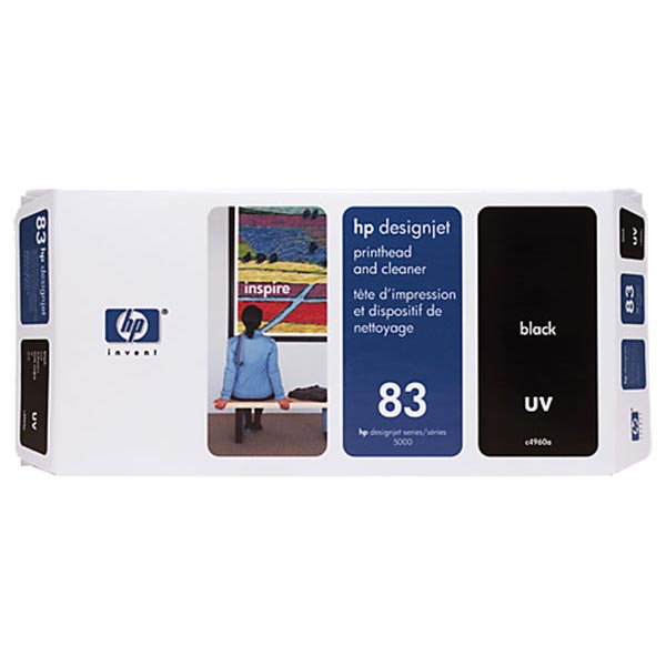 HP C4960A Black Printhead & Cleaner