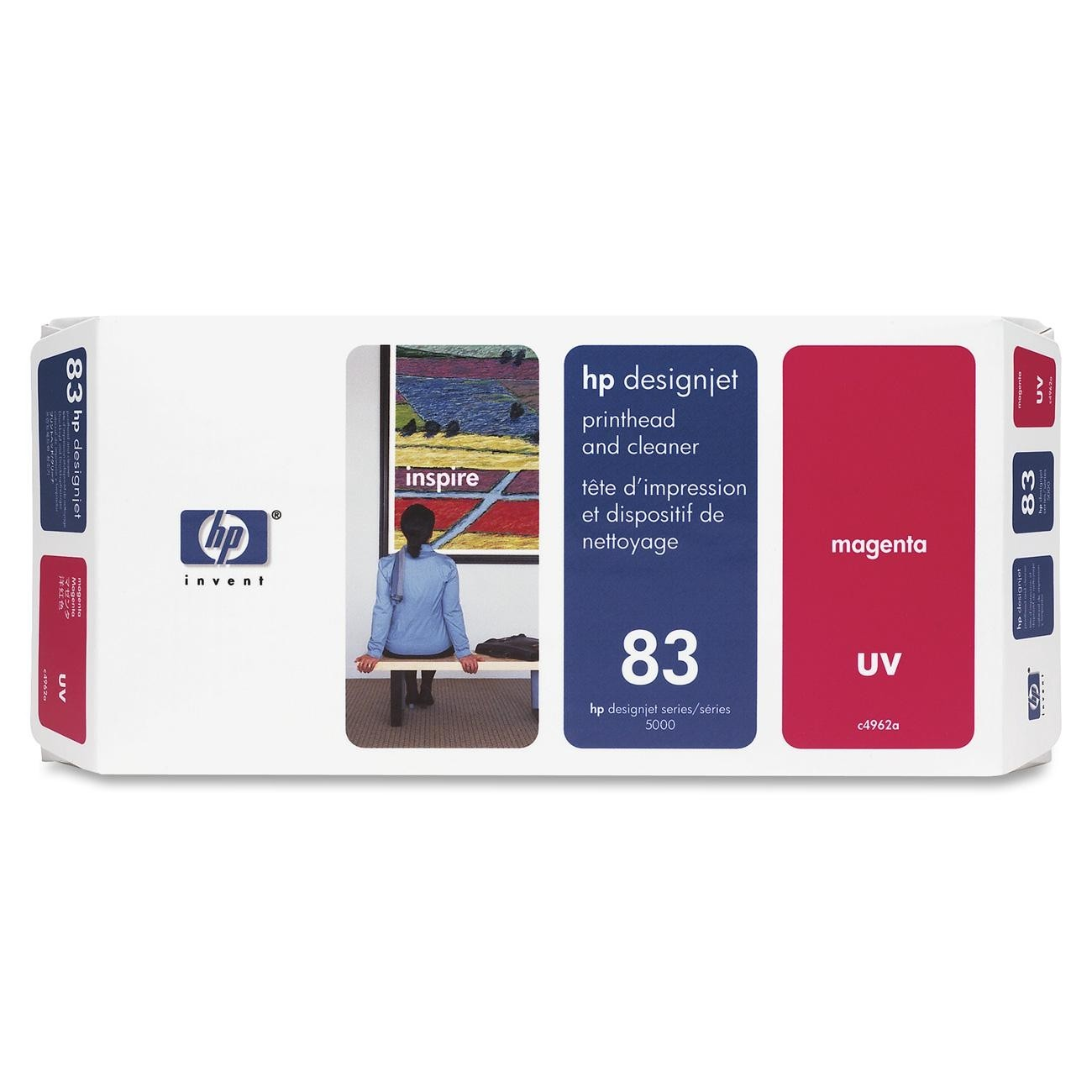 HP 83 Magenta Printhead & Cleaner C4962A