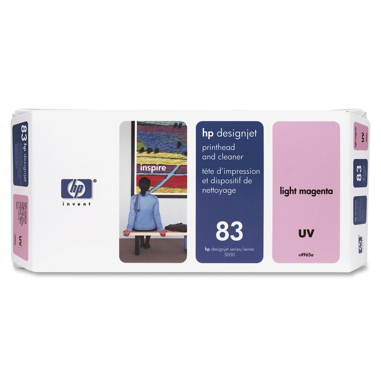 HP 83 Light Magenta Printhead and Cleaner C4965A