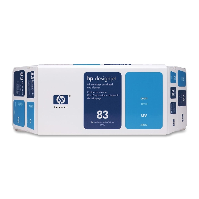 HP 83 Cyan UV Ink Cartridge Value Pack C5001A
