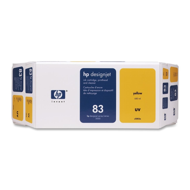 HP 83 Yellow UV Ink Cartridge Value Pack C5003A
