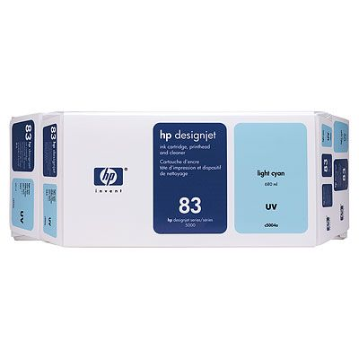 HP 83 Light Cyan UV Ink Cartridge Value Pack C5004A