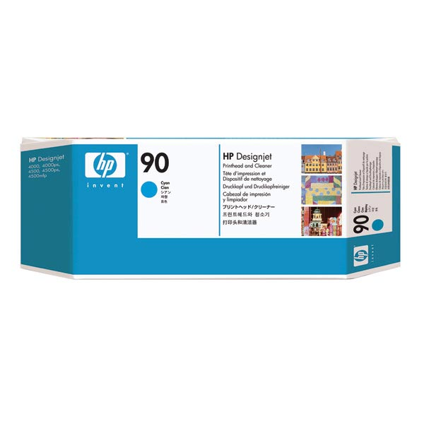 HP 90 Cyan Printhead & Cleaner C5055A