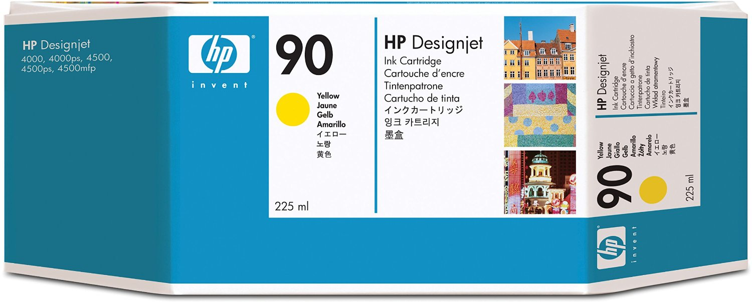 HP 90 Yellow Ink Cartridge C5064A
