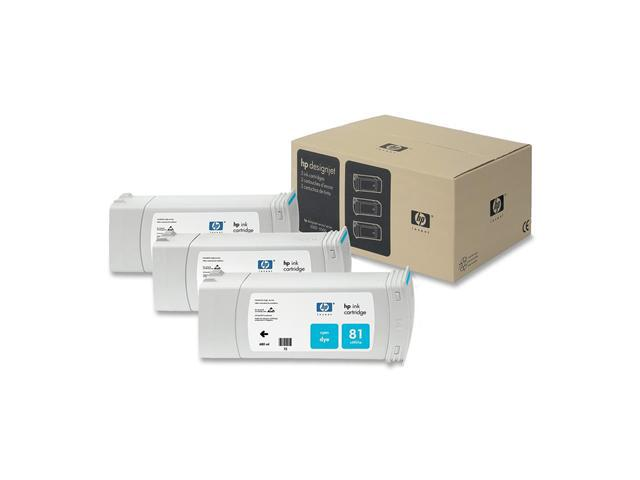 HP 81 3 Pack Cyan Ink Cartridges C5067A