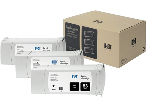 HP 83 Black UV Ink Cartridges C5072A