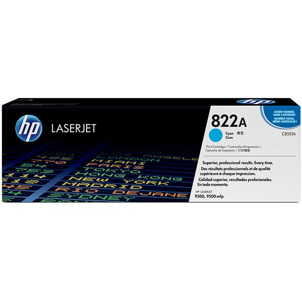 HP 822A Cyan Toner Cartridge C8551A