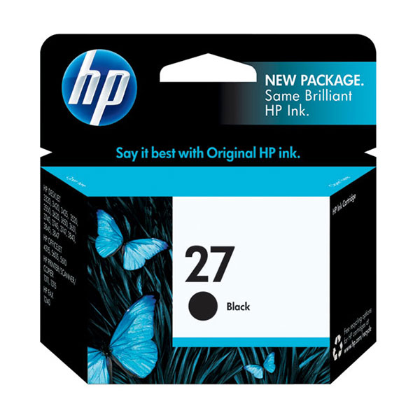 HP 27 Black Ink Cartridge C8727AN