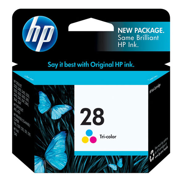 HP 28 Tri-Color Ink Cartridge C8728AN
