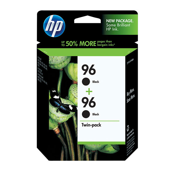 HP 96 Black Ink Cartridge C9361WN, 2/Pack