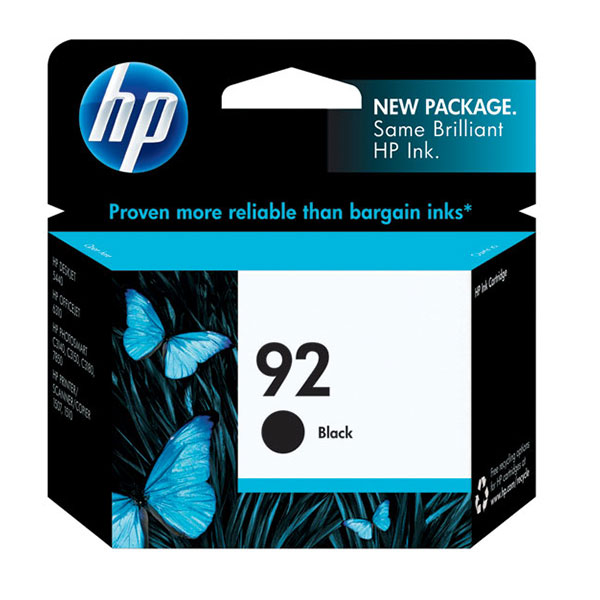 HP 92 Black Ink Cartridge C9362WN