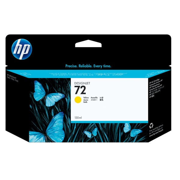 HP 72 Yellow High Yield Ink Cartridge C9373A