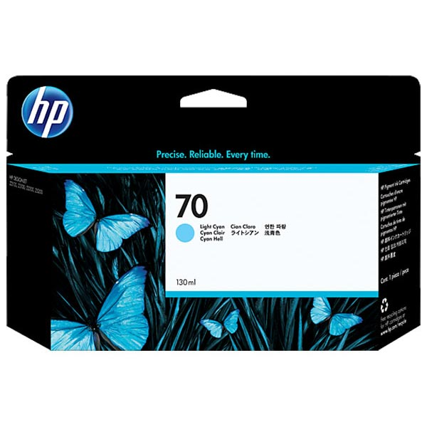 HP 70 Light Cyan Ink Cartridge C9390A