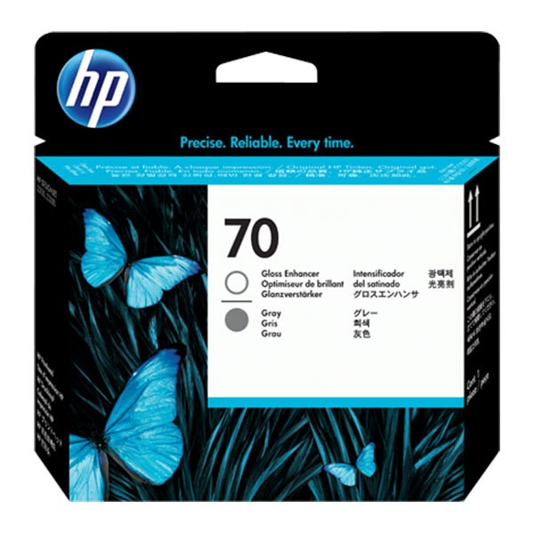 HP 70 Gloss Enhancer & Grey Printhead C9410A