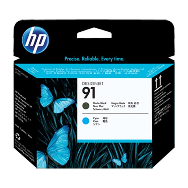 HP 70 Matte Black and Cyan Printhead C9460A