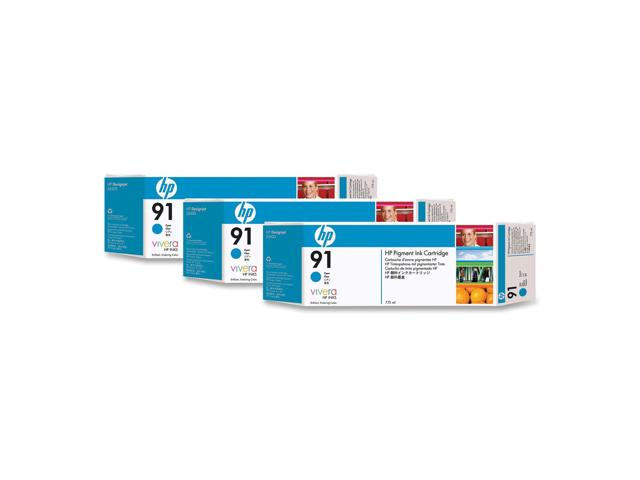 HP 91 Cyan Ink Cartridge C9483A 3/Pack