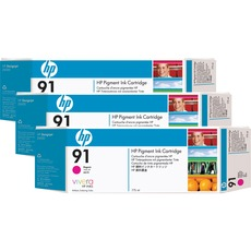 HP 91 Magenta Ink Cartridge C9484A 3/Pack
