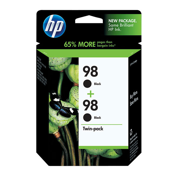 HP 98 Black Ink Cartridges Twin Pack C9514FN