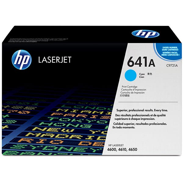 HP 641A Cyan Toner Cartridge C9721A